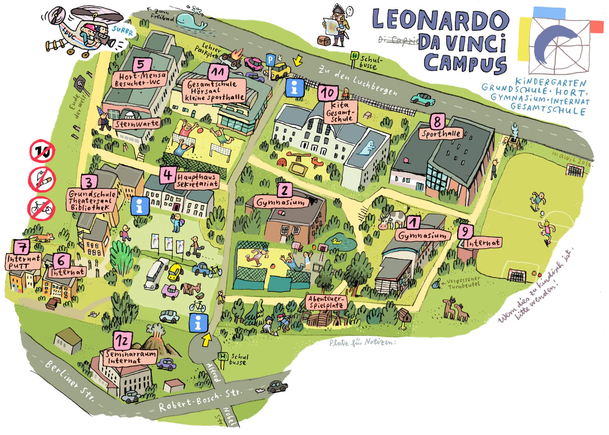 Interaktiver Campus Plan - Leonardo Da Vinci Campus on